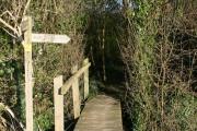 Footbridge near Hempnalls Hall
