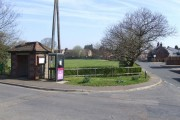 Phone Box, Bus Shelter and Playing Field, Newton St. Faith