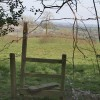 The other end of the footpath