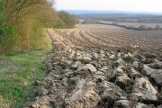 Deeply ploughed field east of Chains Farm
