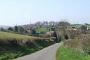 Downhill into the village