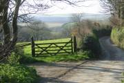 a lane in Darracott, Welcombe