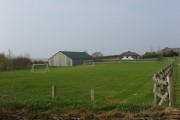 Playing field of holiday cottages, by Box's Shop