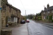 Hawksworth Village, looking NW along Old Lane