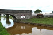 Canal Bridge and farm. Trent and Mersey