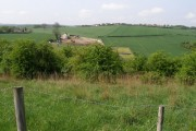 Rough farmland on the side of the M1
