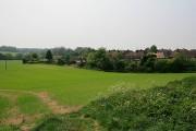 View of farm land from footpath near Church Farm, Sparsholt