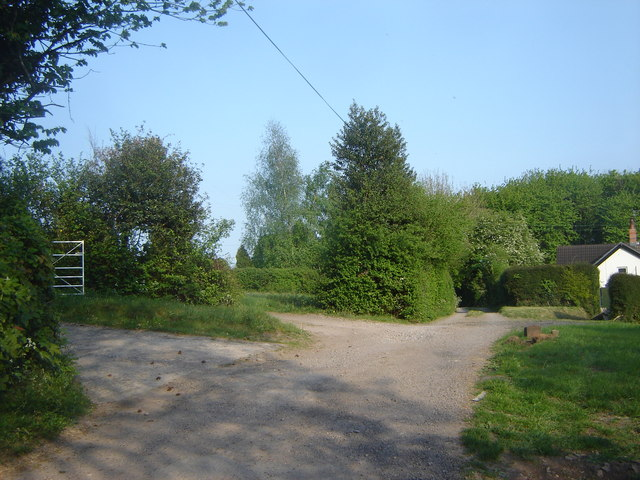 Track, with entrances, Highmoor Hill