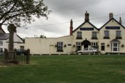 Ashwater village green and pub