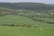 View northwest of Liddaton Down