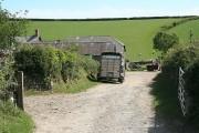 Bishop's Tawton: entrance to Shilstone Farm