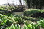 Bridge on bridleway over stream near East Chiltington