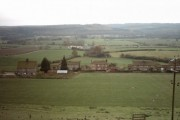 View overlooking houses on East Lane, Ampleforth