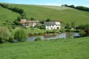 Farm and lake, Hollacombe, Devon