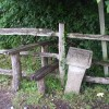 Stile on the footpath into Jarvis's Wood