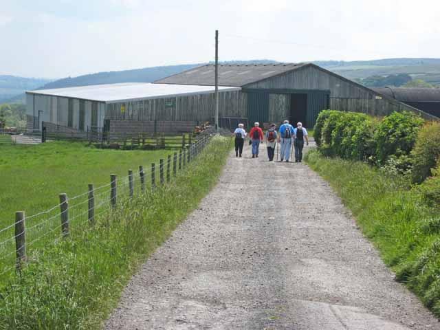 Rambling club approaching High Wiserley