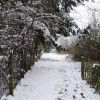 The footpath to Tucks Lane in the snow