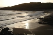 Evening light at Langland Bay