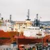 Ships in Aberdeen harbour