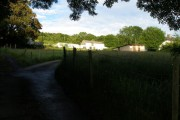 Beili Glas Farm stands out in the evening sun