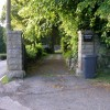 Gateway to Cwmavon House with the A4043 running to the side