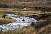 Old footbridge over the River Isla,Dalhally