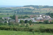 Bradninch from Castle Hill