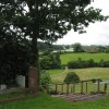 View from the churchyard, Hoarwithy