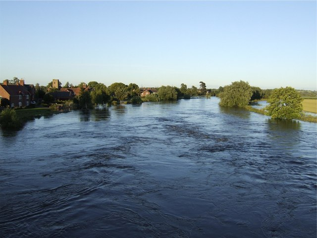 The Trent in Flood at Swarkestone