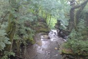 The top of Melin Court Falls