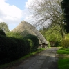 Thatched barn at Bexon Manor