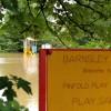 Flooded playground