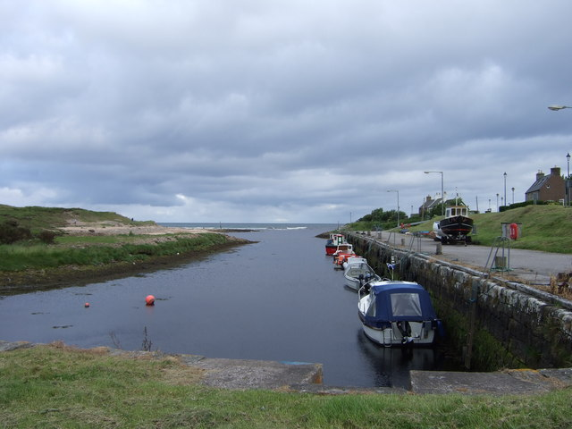 Boats in Brora harbour