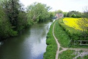Grand Union Canal looking towards Weedon
