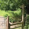 Footpath crosses the stream, Aston Ingham