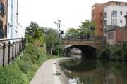 Regent's Canal:  Kingsland Bridge from the west