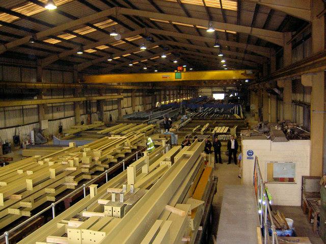 Inside paint shop Billington Structures.