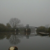 Cawood Swing bridge in the early morning
