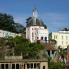 Portmeirion village with the Pantheon dome