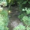 Stream with footbridge, Fownhope