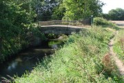 Bridge over the River Went, giving access to Moor Farm land.