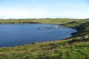 Beach of Muckle Ayre across West Voe of Skellister