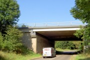 The Doncaster A1M bridge over road to Sprotborough.