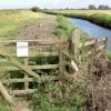 Bridleway gate.