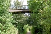 Footbridge over Trans Pennine Trail.