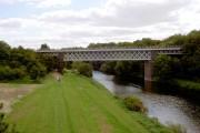 Rail bridge over River Don.