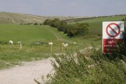 Imber Range from the perimeter path