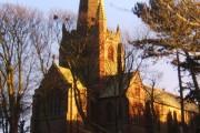 St George's Church, Millom, catching the evening sun