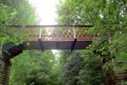 Footbridge over the Trans Pennine Trail.
