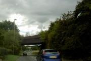 Railway bridge over road.
